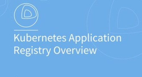 Kubernetes Application Registration Overview