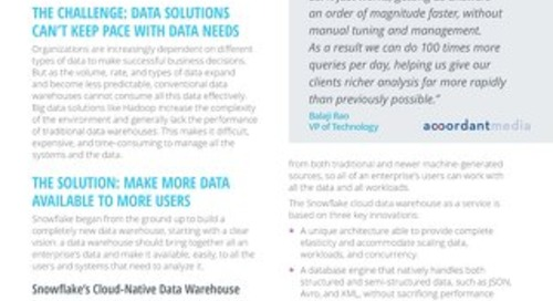 Transforming Business Decision Making with a Cloud-Native Data Warehouse