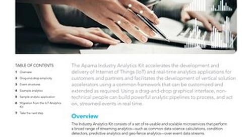 The Apama Industry Analytics Kit