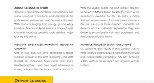 Yieldify case study - Science in Sport