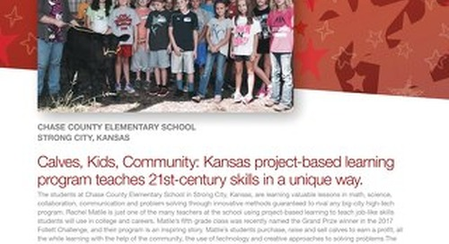 2017 Follett Challenge Grand Prize Chase County Elementary