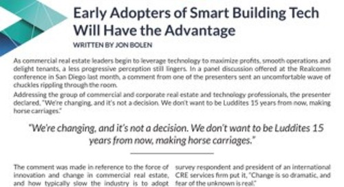 Early Adopters of Smart Building Tech Will Have the Advantage by Jon Bolen