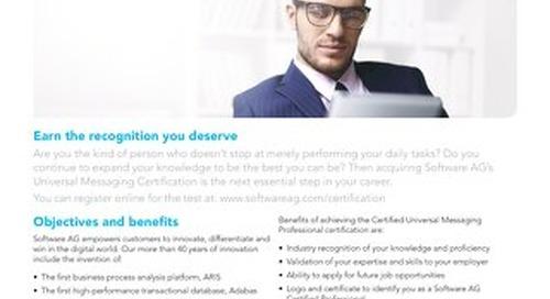 Get certified on Universal Messaging