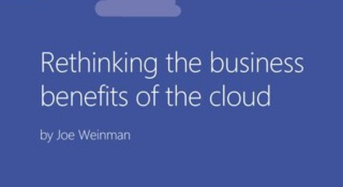 Rethinking the Benefits of the Cloud