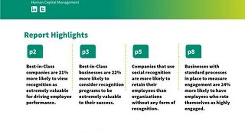 Aberdeen Report: The Art of Appreciation: Top-Tier Employee Recognition