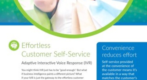 Adaptive IVR Overview