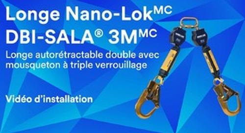 Vidéo d'installation d'une longe autorétractable double avec mousqueton à triple verrouillage