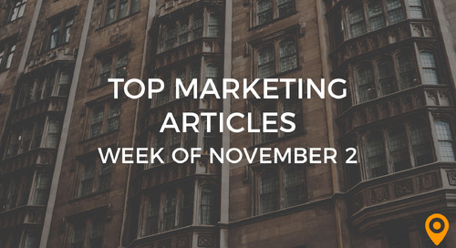 Top 25 Digital Marketing Articles – Week of 11/2/18
