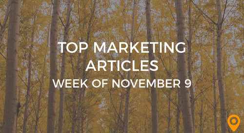 Top 25 Digital Marketing Articles – Week of 11/09/18