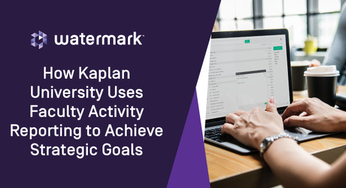 How Kaplan University Uses Faculty Activity Reporting to Achieve Strategic Goals