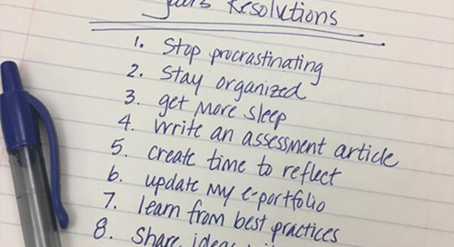 Assessment Resolutions and Reflections for the New Year