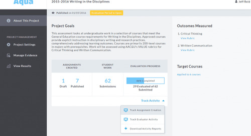 Outcomes Assessment Projects (formerly Aqua) Updates: Improved Tracking, Project Management, & More!