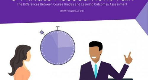 3 Minute Assessment Talk (3MAT) – The Differences Between Course Grades & Learning Outcomes Assessment
