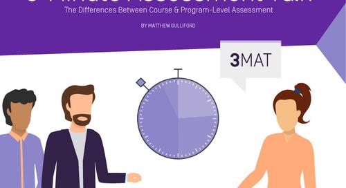 3 Minute Assessment Talk (3MAT) – The Differences Between Course & Program-Level Assessment