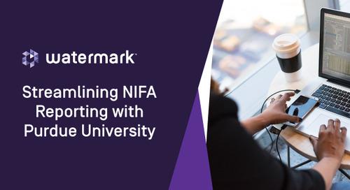 Streamlining NIFA Reporting with Purdue University