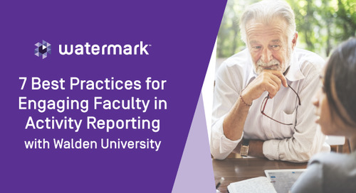 7 Best Practices for Engaging Faculty in Activity Reporting with Walden University