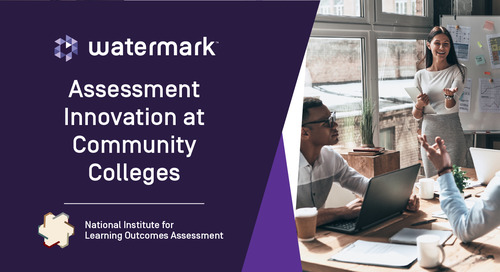 Assessment Innovation at Community Colleges: a NILOA-Led Conversation