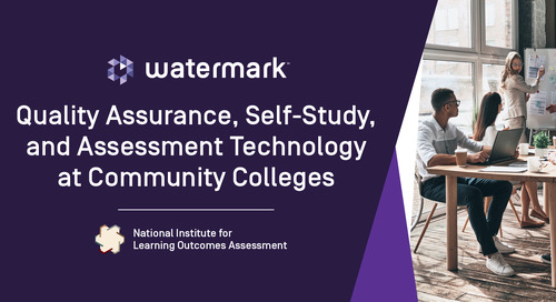 Quality Assurance, Self-Study, and Assessment Technology at Community Colleges: A NILOA-Led Conversation