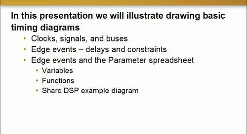 TimingDesigner Simple Diagrams Part 1