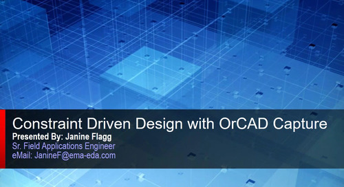 Webinar: Constraint Driven Design with OrCAD Capture