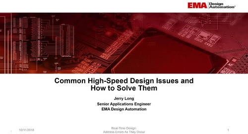On-Demand Webinar: Common High-speed Design Issues and How to Solve Them