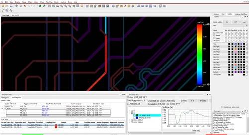 Allegro PCB Crosstalk Vision