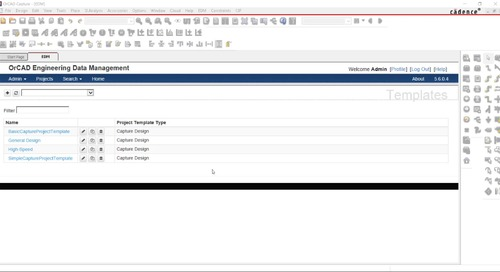 OrCAD Engineering Data Management: Templates