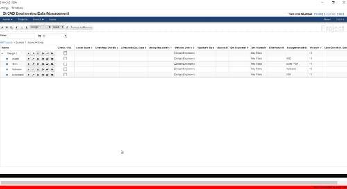 OrCAD Engineering Data Management: Validation