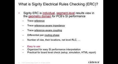 OrCAD Sigrity ERC Update