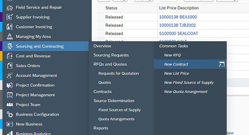 Purchasing Contract Processing in SAP Business ByDesign