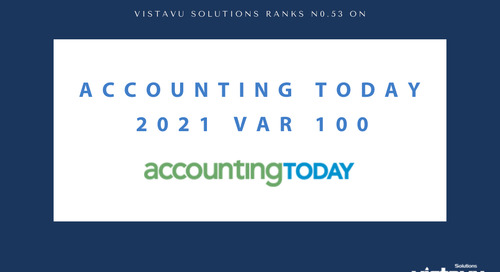 VistaVu Solutions Ranks on the Accounting Today 2021 VAR 100