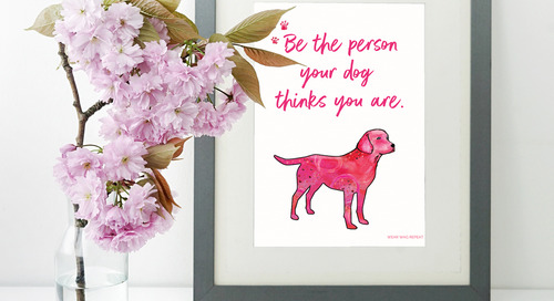 Inspiring Dog Art Digital Download