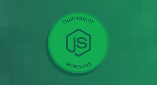 Quick Start: Node.js & MongoDB - How to Get Connected to Your Database