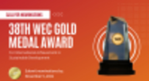 Call for Nominations Now OPEN for WEC 2022 Gold Medal Award for Corporate Sustainability
