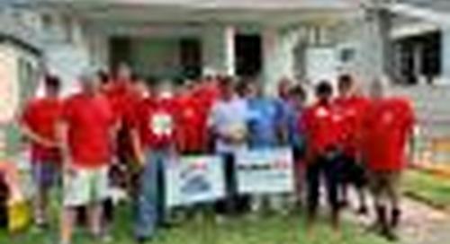KeyBank Teammates Bring Home Repairs and Hope to a Buffalo Homeowner