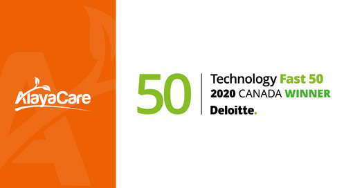 AlayaCare announced as one of Deloitte's technology fast 50™ companies