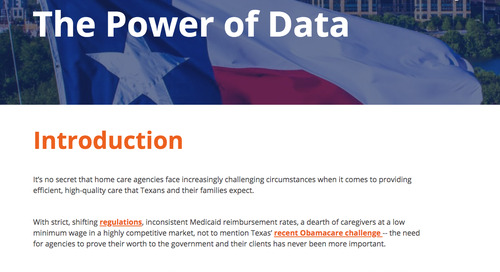 How home care in Texas can be transformed by the power of data