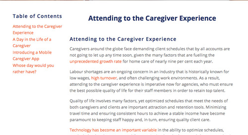 The key to improved caregiver experience