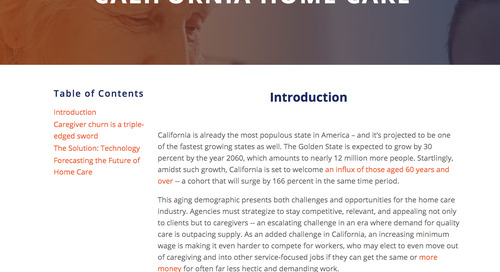 How to stay competitive in California home care