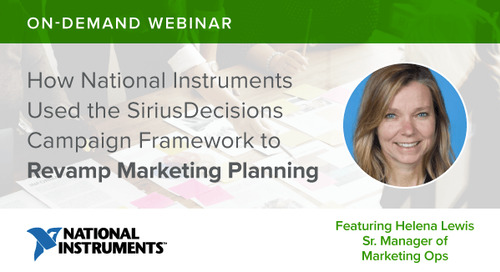 Webinar Recap: How National Instruments Revamped Its Marketing Planning
