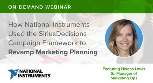 Webinar Recap: How National Instruments Revamped Its Marketing Planning