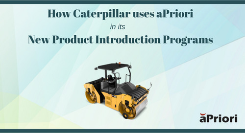 How Caterpillar uses aPriori in its New Product Introduction Programs