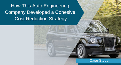 How This Automotive Engineering Company Developed a Cohesive Cost Reduction Strategy