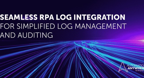 Seamless RPA Log Integration for Simplified Log Management and Auditing