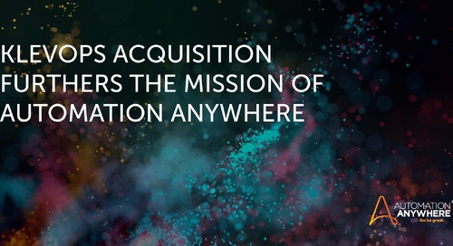 Klevops Acquisition Furthers the Mission of Automation Anywhere