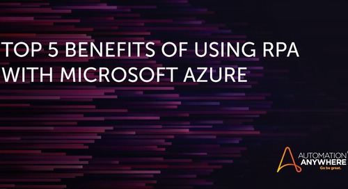 Buying time: Top 5 benefits of using RPA with Microsoft Azure