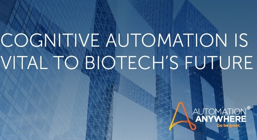 Life Sciences: Moving Innovation Forward to Change Lives with Cognitive Automation