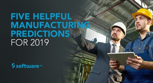 In 2019, Manufacturing gets Smarter