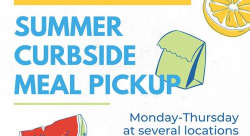 Summer curbside meal pickup for kids 0-18