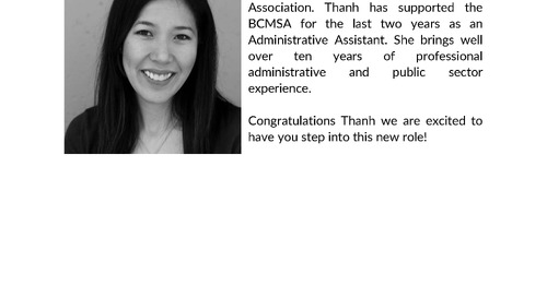 Congratulations to Thanh Vo – Administrative Training Coordinator